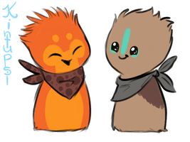 Scarfblob Buddies by Kintupsi