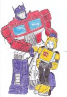 G1 Optimus Prime and Bumblebee by Lol-Phail