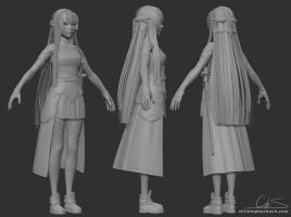 Asuna - wip by TheStoff