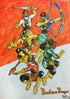 Indonesian Sentai, Pandawa Rangers by eveneechan