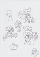 Space Pirate Krizzie Sketches by Chaos-force