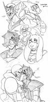 Undertale and ocs by BlasticHeart