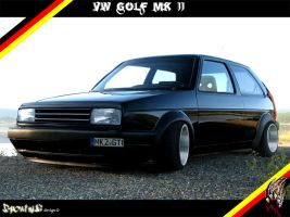 vw golf mk2 by spoutnik3
