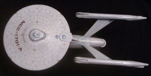 USS Enterprise-A Top View by Roguewing