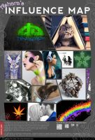 My Influence Map by Marjolijn-Ashara