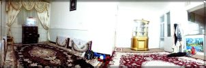 My panoramic photo of a room by msnsam