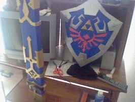 hylian shield and sheath by davidisabeast