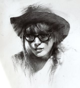 Charcoal sketch by alifann