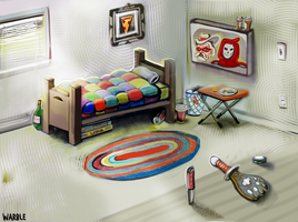 Warble Bedroom by hyronomous