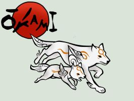 Okami and Okamiden by FF-Terra