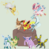Entralink Guardians - Mega Eeveelutions by MephistaTheDark