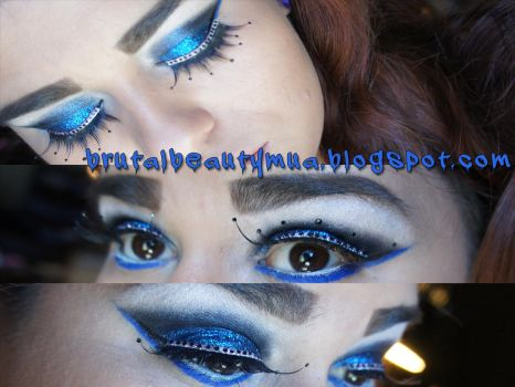 blue day makeup by Brittany13Brutal