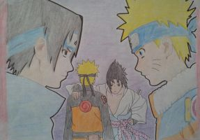 Sasuke and Naruto by JoJoAsakura