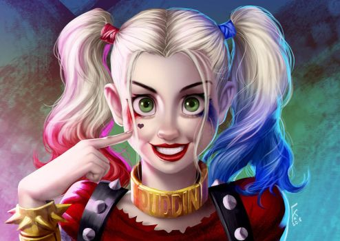 Arlequina Suicide Squad by alanscampos