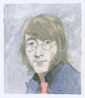 John Lennon Watercolor by Jeremiah29
