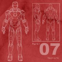 Free Mark-7 Ironman Vectors by MattClarke