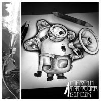 Martin Tattooer Zincik - Minions drawing by TattooBulldog