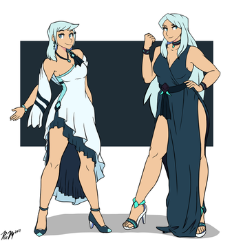 Halona and Ceannai Dresses by Ric-M