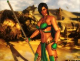 Mortal kombat wallpaper - Jade by ethaclane