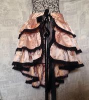 Burlesque Bustle skirt gold brocade black lace by SewObession