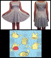 Baby Blue Pikachu Dress by DrippingSin