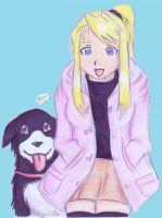 FMA: Winry and Den by sonorousviola