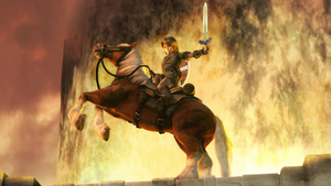 Zelda - Victory on Eldin Bridge by cfowler7