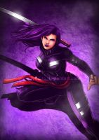 Rainbow Week: Purple like Psylocke by ryodita