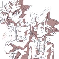 Yugi And Yami by Eman-Thabet