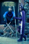 The Huntress and Nightwing by MaDeath90