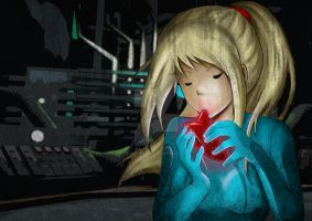 Samus Aran plays the ocarina : by HorrorPillow