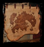 leather pirate map by Lagueuse