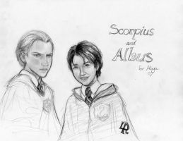 Scorpius and Al by Lazy-P
