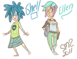 Shell + Ellen Doodles by zeratanus