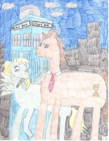 Dr Whooves And Companion by MyMelodyOfTheHeart