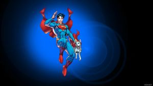 Superboy and Krypto by Jim Lee by Xionice