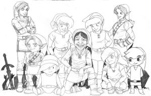 Link and Friends pencils by paperlab