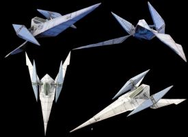 Papercraft SFX Arwing model by archus7