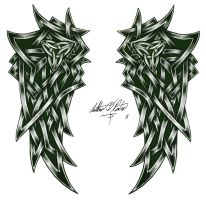 Celtic Wings Tattoo by Torvald2000
