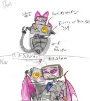 Pi and Scharma then and now by werecatkid17