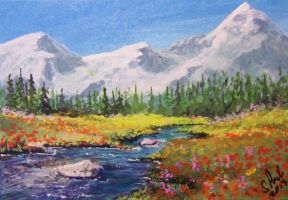 ACEO Mountain Poppies by annieoakley64