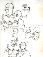 Sketch Dump - Zuko + Aang by kole