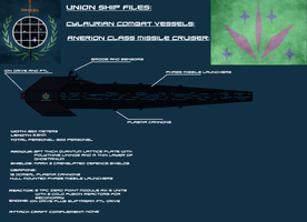 Anerion Class Cylaurian Missile cruiser by EmperorMyric