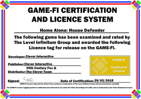 Home Alone House Defender Game-Fi Certificate by LevelInfinitum
