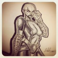 Asaaj Ventress Marker Sketch by IanDWalker