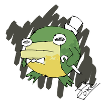 BBT Frog Bomb (Daily-ish Art 1) by Ikpoke