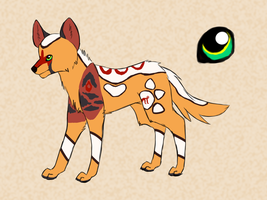 Wild dog Adoptable OPEN (price lowered) by KayasShelter