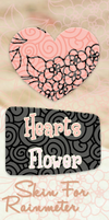 Skin for Rainmeter Clock HeartFlower by Isfe
