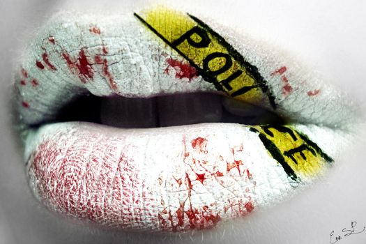 Crime Scene lip art by Chuchy5