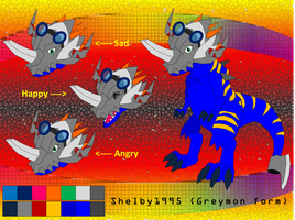Shelby95 Greymon form by Shelby95